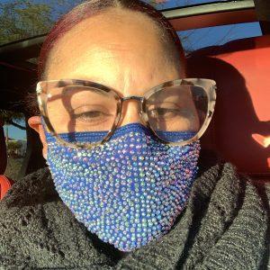 Blue Bling Mask