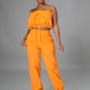 In Tulum Pant Set Orange