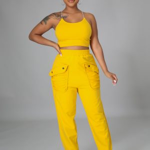 Something Light Set is a yellow pant set